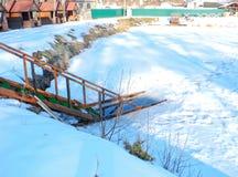 Ice-hole at winter. stock photos