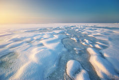 Ice and horizon Royalty Free Stock Photography