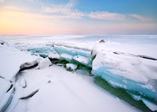 Ice and horizon. Stock Photo