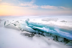 Ice and horizon. Stock Image