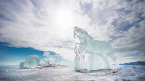 Ice Horses, TimeLapse stock video footage