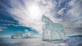 Ice Horses, TimeLapse Royalty Free Stock Image