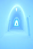Ice hotel corridor Stock Images