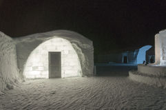 Ice hotel exterior Stock Photography