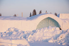 The Ice hotel. The famous Ice hotel in Swedish Lapland Stock Photography