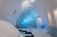 Ice Hotel interior Stock Photo