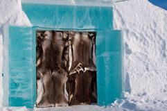 Ice hotel Royalty Free Stock Photo