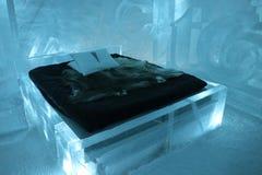 Ice Hotel Sculpture Stock Photo