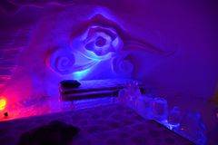 Ice Hotel Royalty Free Stock Photography
