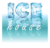 Ice House. The name of the cafe where you can relax from the heat and eat ice cream Stock Images