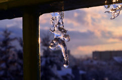 Ice. How nature shapes the ice Royalty Free Stock Photos