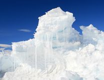 An ice hummock Stock Photos