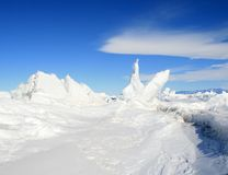 Ice hummocks. Ross Island, Antarctica Stock Photography