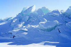 Ice hummocks Royalty Free Stock Photos