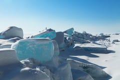 Ice hummocks Stock Images