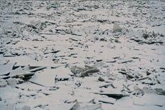 Ice hummocks on the Neva river. 2. Ice hummocks on the Neva river in the center of St. Petersburg Stock Photography