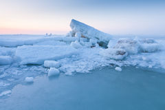 Ice hummocks in the sea Royalty Free Stock Photos
