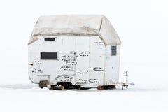 Ice hut in Idaho Stock Image
