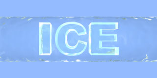 Ice. Ice crystal letters Stock Photos