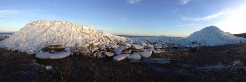 Ice; Ice Mountain, Beach, Iceberg Stock Photo