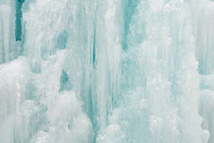 Ice icicle frozen waterfall Christmas decoration Royalty Free Stock Photos