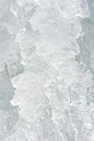 Ice icicle frozen waterfall Christmas decoration Royalty Free Stock Photography