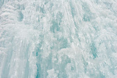 Ice icicle frozen waterfall Christmas decoration Royalty Free Stock Images
