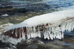 Ice icicles Royalty Free Stock Photography