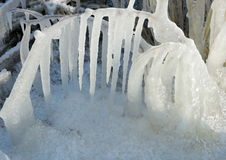 Ice icicles Royalty Free Stock Photos