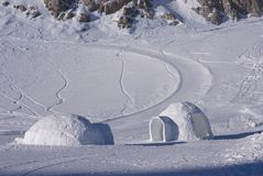 Ice igloo 1 Stock Photo