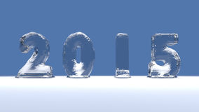 Ice inscription 2015. Inscription 2015 made of ice vector illustration