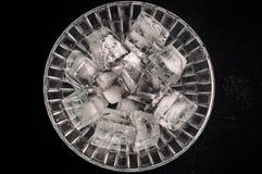 Ice inside bowl stock photo