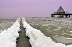 Ice on island of Usedom Royalty Free Stock Photography