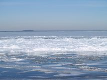 Ice Jam on Lake Erie Stock Photography