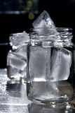 Ice in a jar Stock Photos