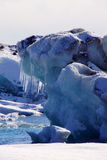 Ice at Jokulsarlon in in east fjords in Iceland Stock Photos