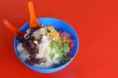Ice kacang or ais kacang (ABC) in Malay language Stock Images