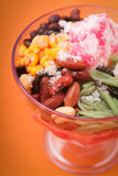 Ice kacang, dessert of shaved ice with icecream Stock Images
