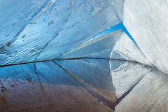 Ice kaleidoscope. the abstract background of ice structure. Royalty Free Stock Photo