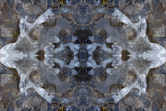 Ice kaleidoscope pattern Royalty Free Stock Images