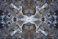 Ice kaleidoscope pattern Stock Images