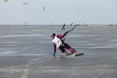 Ice kiting Stock Photos
