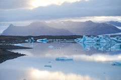 Ice Lagoon. Jokulsarlon ice lagoon in south eastern Iceland is right between Vatnajokull glacier and the ocean. The setting for lots of Hollywood movies Stock Images