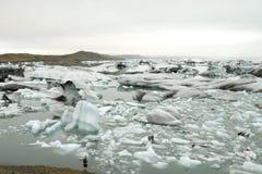 Ice lagoon. Stock Photo