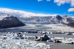 Ice lagoon and iceberg lake, Iceland Royalty Free Stock Photo