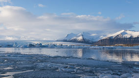 Ice lagoon Jokulsarlon in winter Royalty Free Stock Image