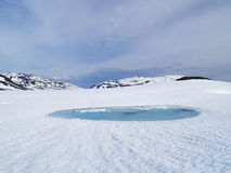 The ice lake Stock Images