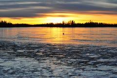 Ice lake royalty free stock photo