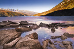 Ice lake Stock Image