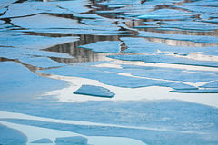 Ice, Lake Balaton, Hungary Stock Photos